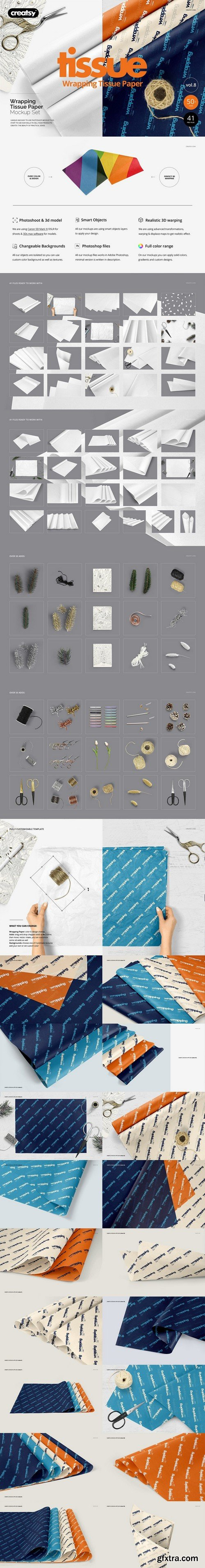 Cm Wrapping Tissue Paper Mockup Bundle 2143283 187 Gfxtra