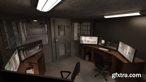 Daz3D - Empty Detention Cell