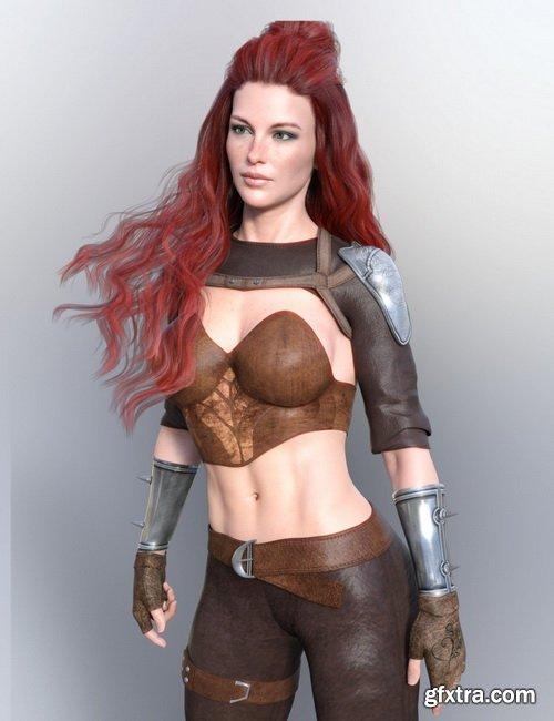 Daz3D - X-Fashion Catrina Outfit for Genesis 8 Female(s)