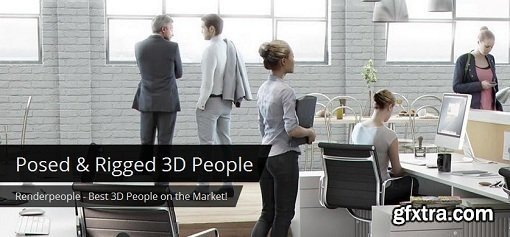 RenderPeople - Business people x20 - 100k Poly Scans (3ds max / vray)