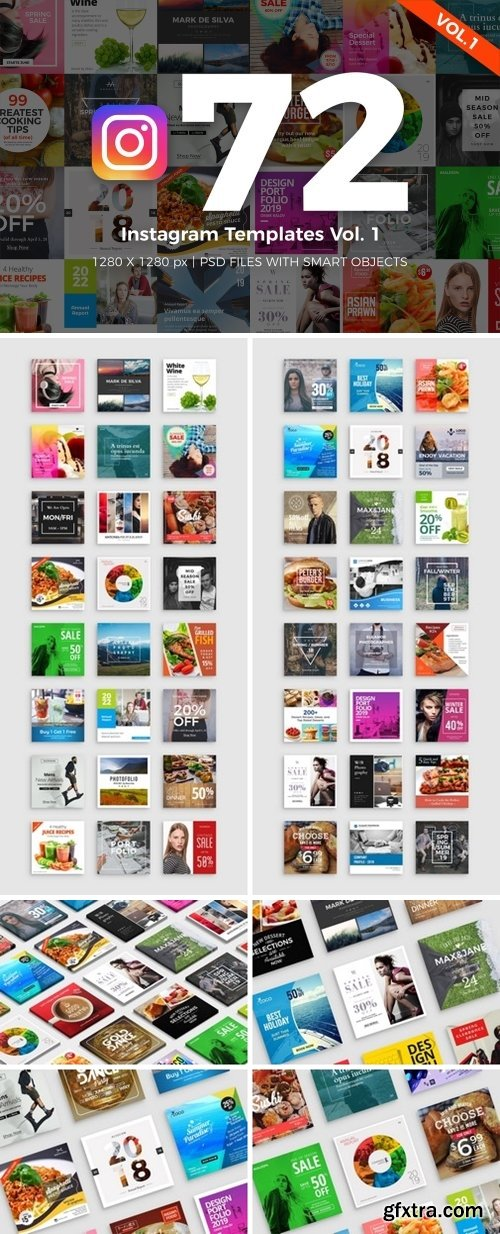 CM - 72 Instagram Templates Vol.1 2266203
