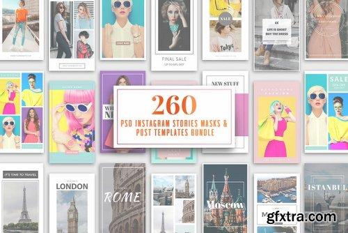 CreativeMarket 260 Instagram Stories & Templates 2502407
