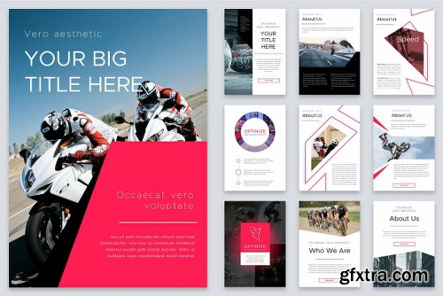 CreativeMarket Optimize Modern Powerpoint Bundle 2522469