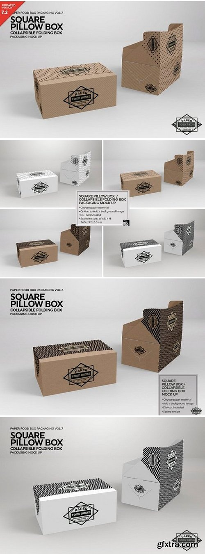 CM - Square Pillow Box Packaging Mockup 2487966
