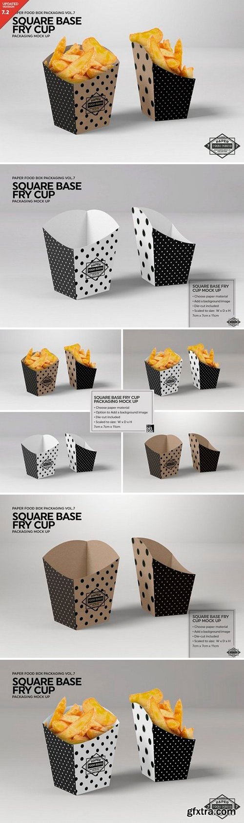 CM - Square Base Fry Cup Packaging Mockup 2487970