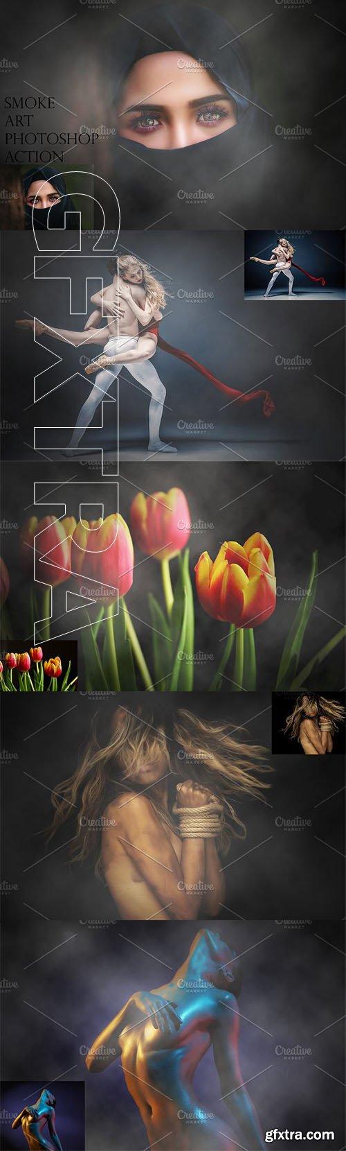CreativeMarket - Smoke Art Photoshop Action 2555792