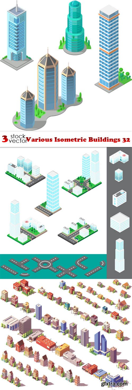 Vectors - Various Isometric Buildings 32