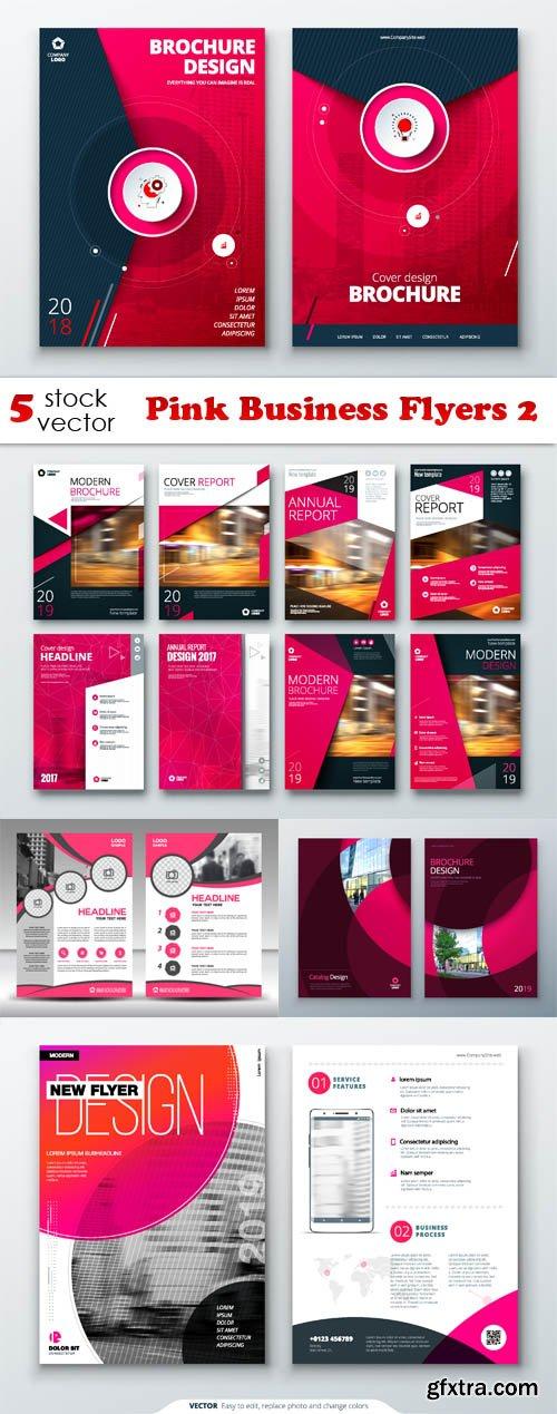 Vectors - Pink Business Flyers 2