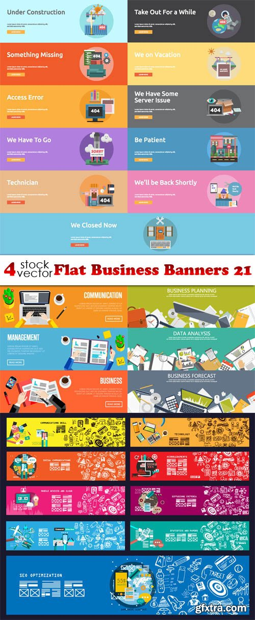 Vectors - Flat Business Banners 21