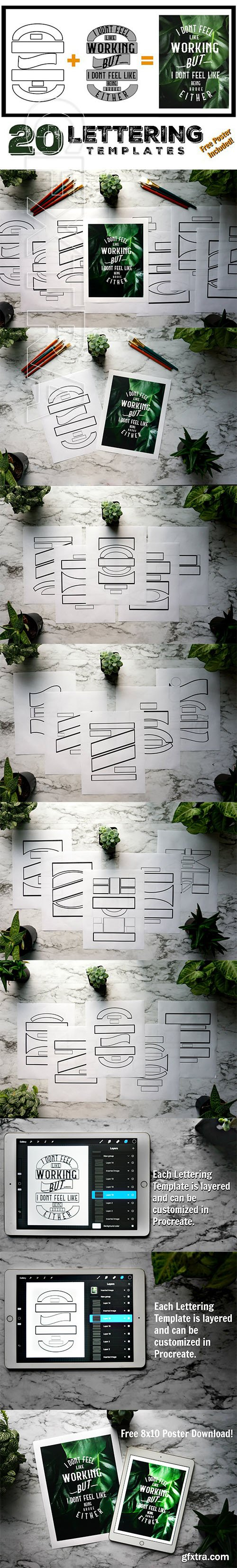 CreativeMarket - Lettering Composition Templates 2554333