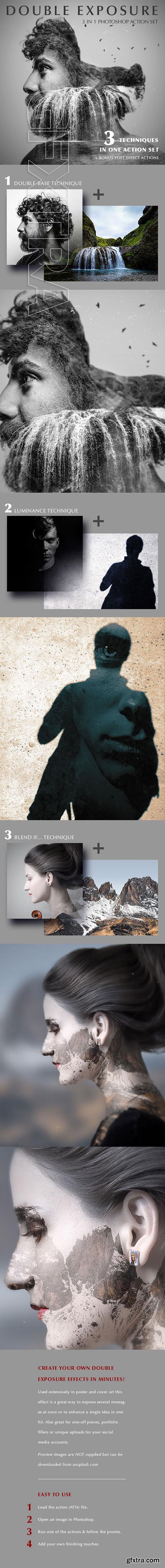 GraphicRiver - Double Exposure Action 21930305
