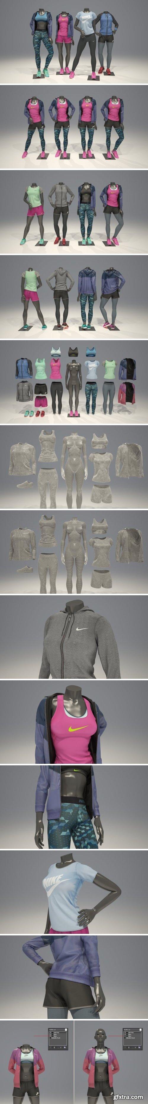 CM - Female mannequin Nike pack 2 2126478