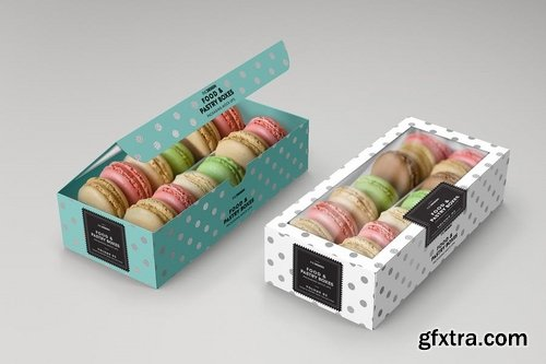 Food Pastry Boxes Vol2 Packaging Mockups