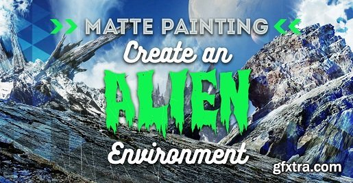 PencilKings - Matte Painting in Photoshop - Create an Alien Environment