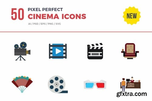 CM - Flat Icons- Cinema Set 2538853