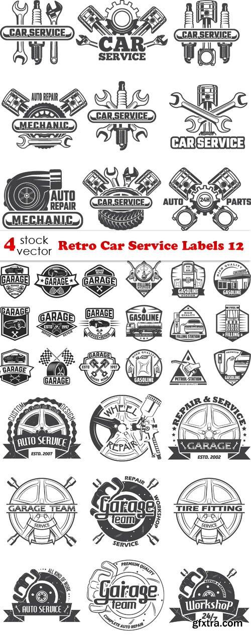 Vectors - Retro Car Service Labels 12