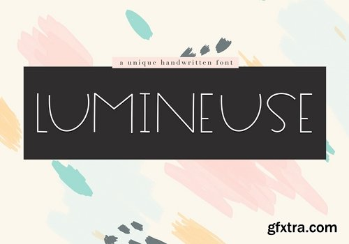 CM - Lumineuse - A Thin Handwritten Font 2523788