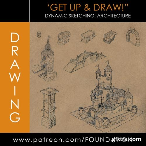 Gumroad - Foundation Patreon - Drawing: Dynamic Sketching - Architecture