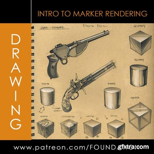 Gumroad - Foundation Patreon Drawing: Intro to Marker Rendering