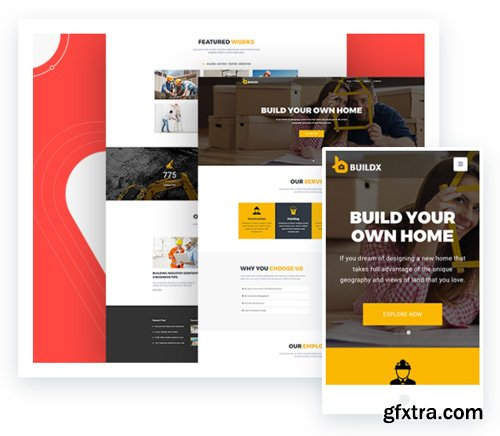 ThemeXpert - BuildX v1.3.1 - Joomla Construction Template For Constructors, Electrician And Plumbers