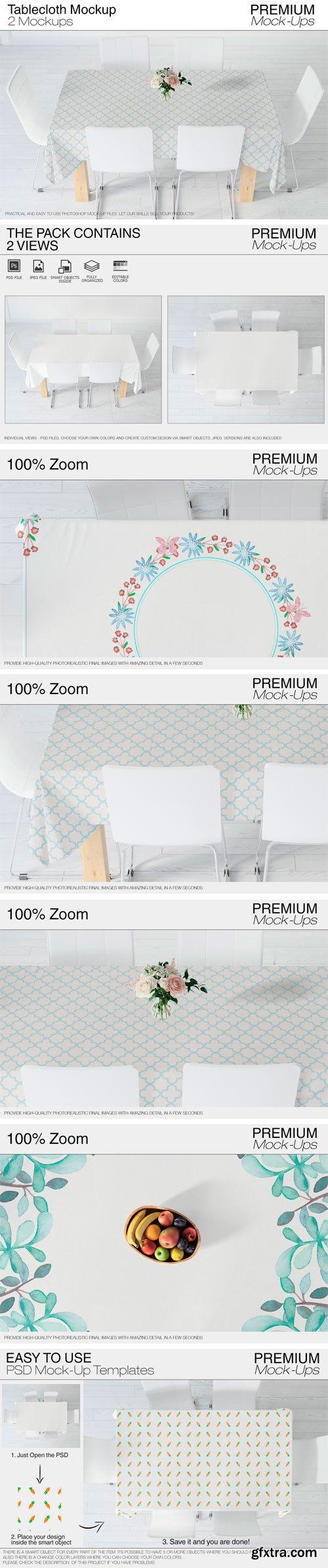 CM - Tablecloth Mockup Set 2423568