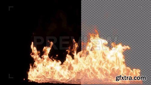 Realistic Fire In Alpha Channel 82478