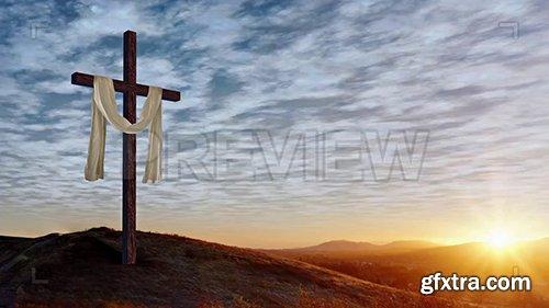 Draped Christian Cross Pack 77664
