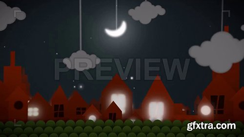 Animated Night City Background 82738