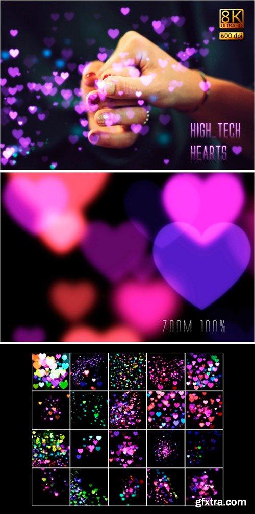 CM - 8K High-Tech Hearts Overlays 2487569