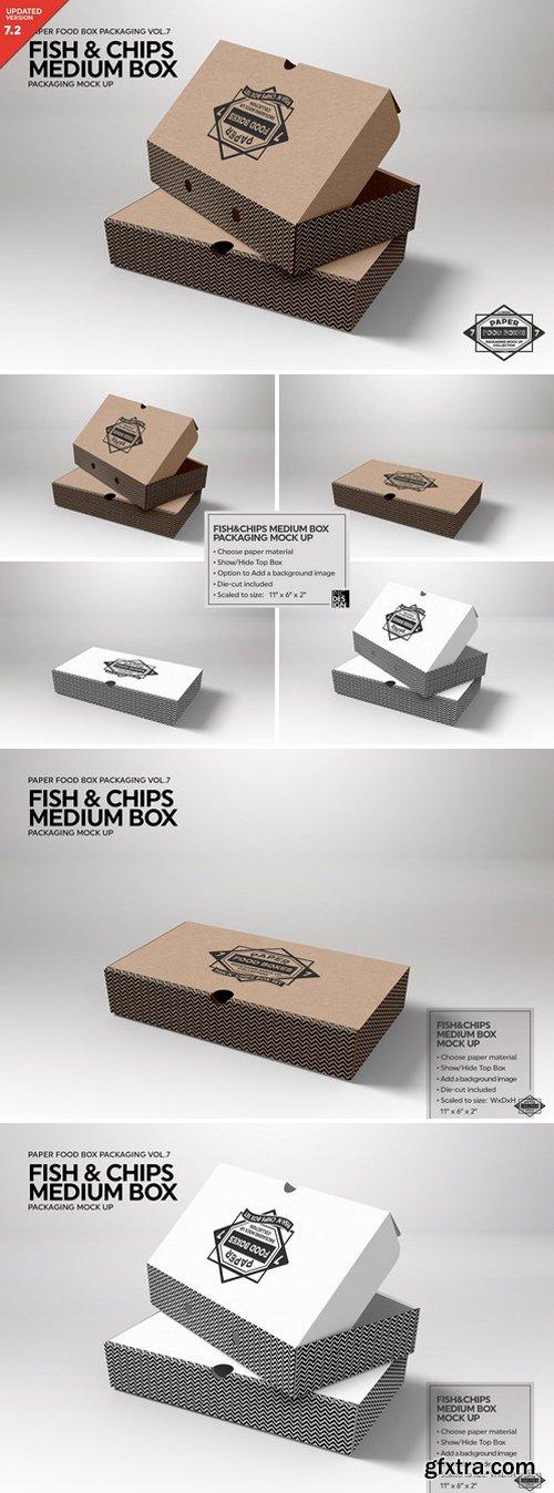 CM - Medium Fish and Chips Box Mockup 2487962