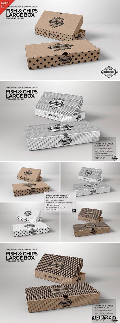 CM - Large Fish and Chips Box Mockup 2487963