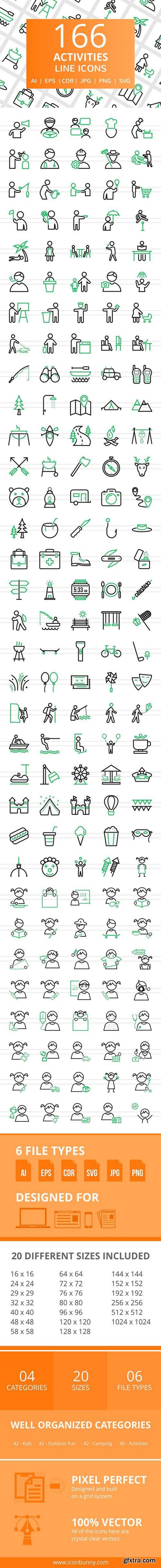 CM - 166 Activities Line Icons 2456669
