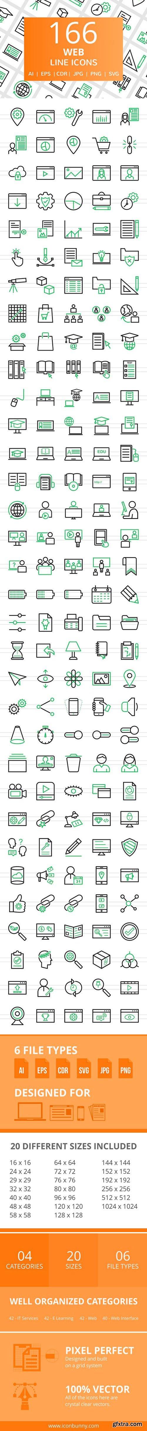 CM - 166 Web Line Icons 2456739