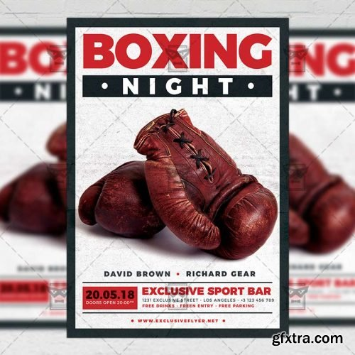 Boxing Night Flyer – Sport A5 Template