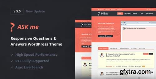 ThemeForest - Ask Me v5.5 - Responsive Questions & Answers WordPress - 7935874