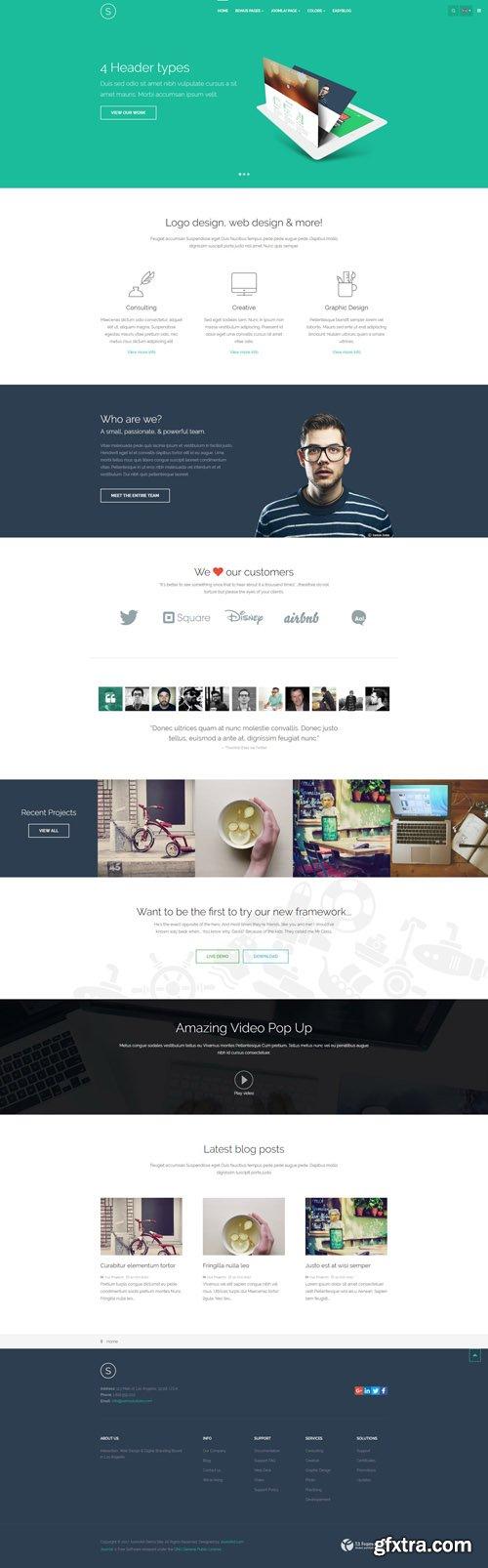 JoomlArt - JA Sugite v1.1.9 - Responsive Joomla template for Designer Portfolio