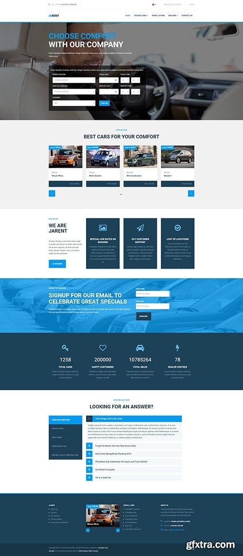 JoomlArt - JA Rent v1.0.6 - Responsive Joomla template for Vehicles Rental Service