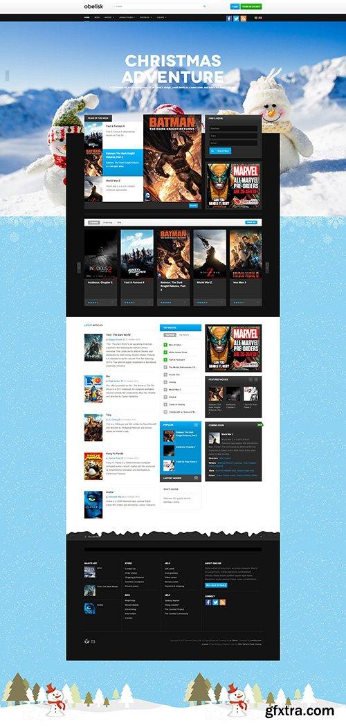JoomlArt - JA Obelisk v1.1.5 - Responsive Joomla Template for Movie & Entertainment