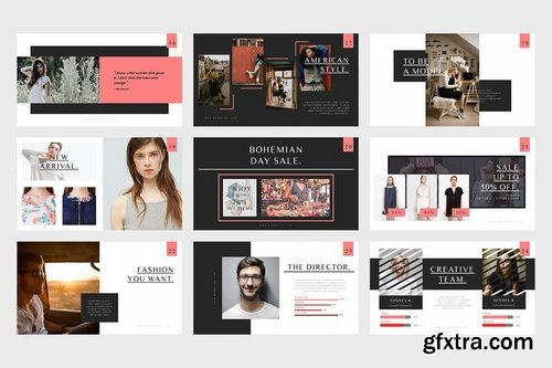 Bohemian Fashion Catalogue Keynote Template