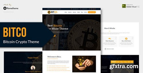 ThemeForest - Bitco v1.0 - Bitcoin and Cryptocurrency Muse Template - 21575995