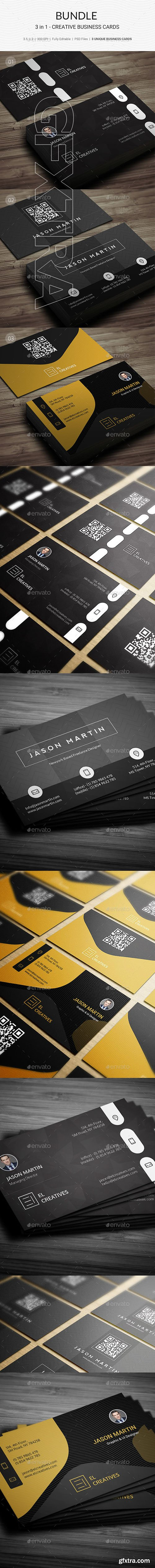 GraphicRiver - Bundle - 3 in 1 - Creative Business Cards - 180 21943110