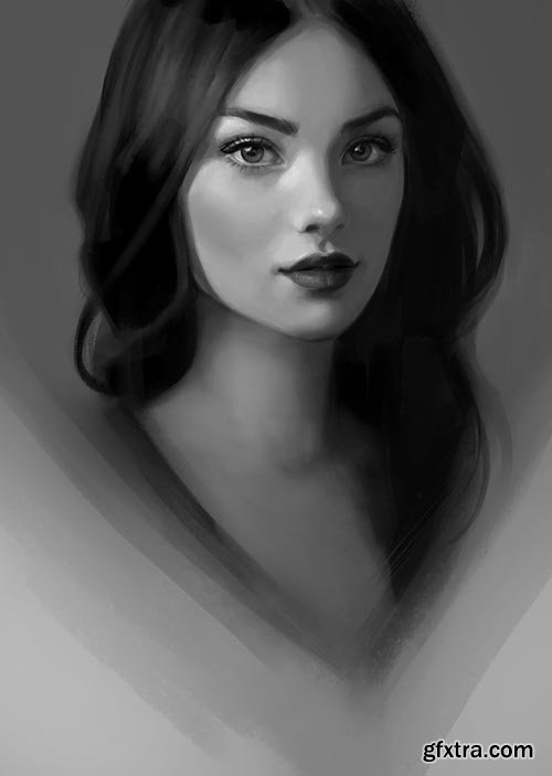 Paint a Portrait in Photoshop: Blank Canvas to Finished Illustration