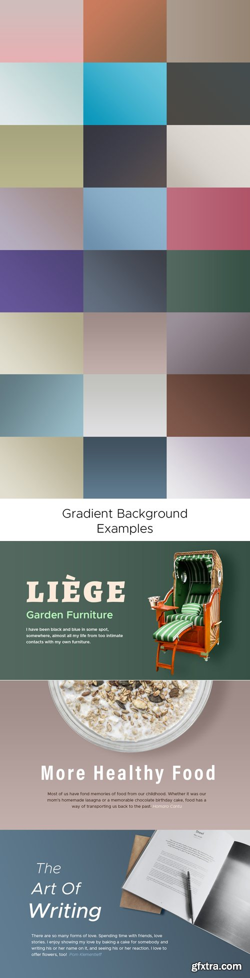 25 Professional Gradient Backgrounds for Photoshop GRD