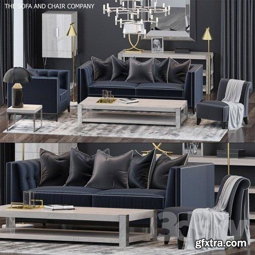 The Sofa & Chair Company Set 6 3d Model