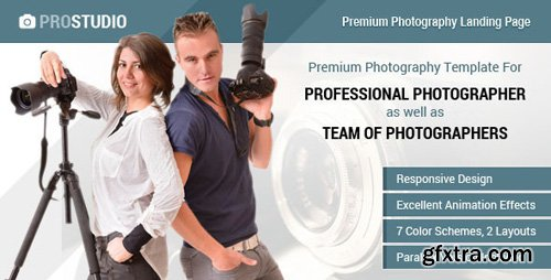 ThemeForest - Professional Photography Responsive Landing Page (Update: 1 February 17) - 7688940