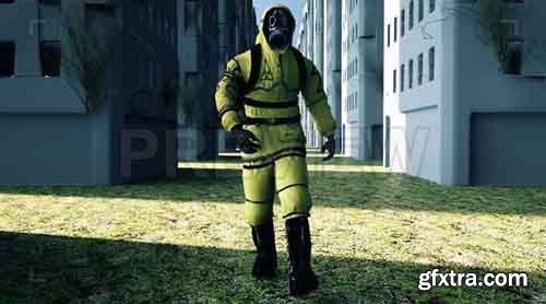 Man with Gas Mask - Motion Graphics 83709