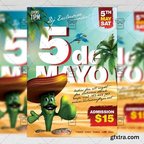 5 De Mayo Fiesta – Seasonal A5 Flyer Template