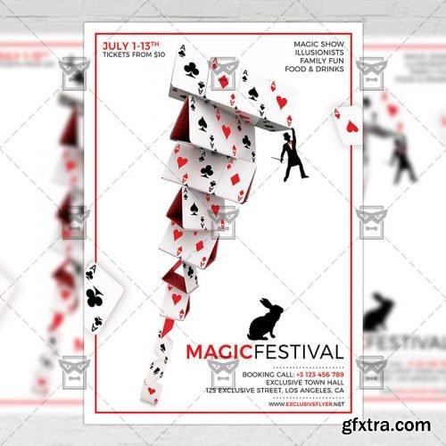 Magic Festival – Community A5 Flyer Template