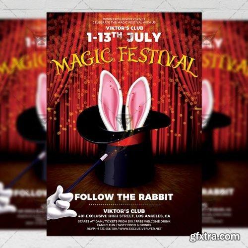Magic Festival Flyer – Community A5 Template