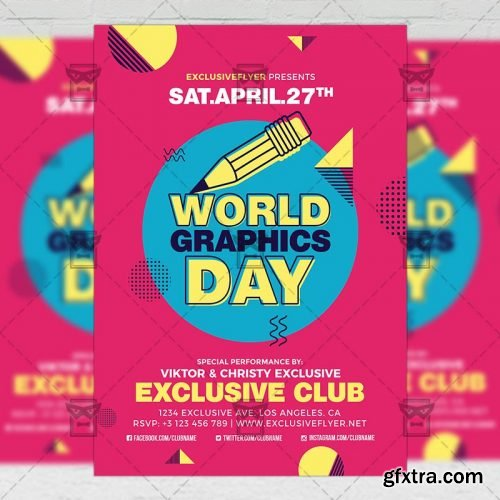 World Graphics Day – Community A5 Flyer Template